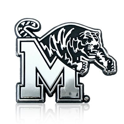 University of Memphis Tigers Chrome Metal Car Emblem - University Chrome Car Emblem