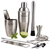Rorence 11 Piece Stainless Steel Cocktail Bar Set -Bartender Shaker Kit Includes Cocktail Shaker, Muddler, Double Jigger