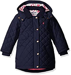 Joules Big Girls\' Marcotte Quilted Coat, French Navy, 9/10