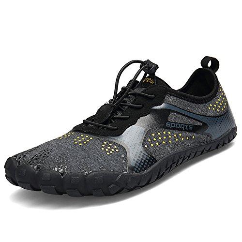 Schuhe Damen Outdoor schwarz Sportschuhe Trekking Fitnessschuhe Barfußschuhe A Herren BAOLESEM B6qwP4P