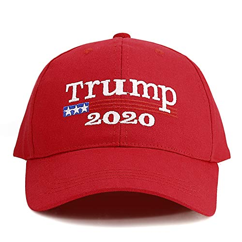 Keep America Great Hat Donald Trump Slogan Cap Adjustable Baseball Hat Trump 2020 Campaign Cap Embroidered USA Hat-Red