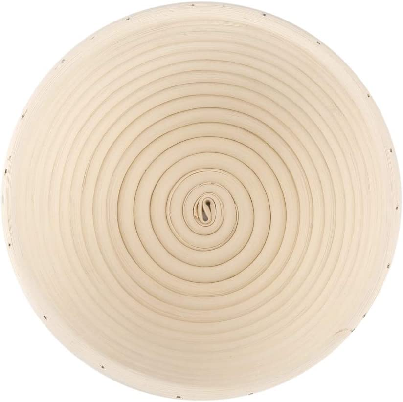 OhhGo para banneton masa de rat/án Cestas de bamb/ú para masa de pan 18 x 9 cm