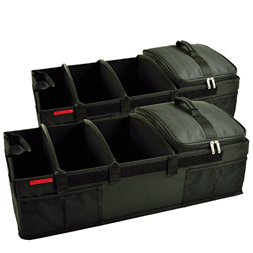 Picnic at Ascot - Ultimate Heavy Duty Trunk Organizer w/Cooler - No Slide Rigid Base -70 LB Capacity - 30'' Wide x 14.75'' deep x 9'' high - Black- 2 Pack by Picnic at Ascot (Image #4)
