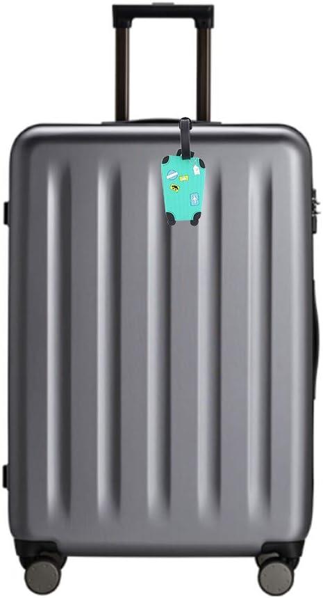 Couleur 1 Cpano 5pcs /Étiquettes de bagages /Étiquettes de voyage /Étiquettes didentification titulaire de carte de noms pour sacs /à bagages Valises Sacs /à dos