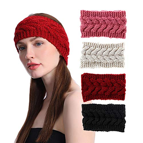 Knitted Head Wrap Braided...