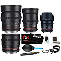 ROKINON CINE DS T1.5 Cinema Lens Bundle - 50mm + 35mm + 85mm + 24mm for Canon