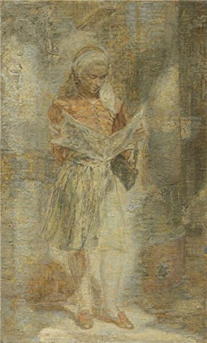 High Quality Polyster Canvas ,the Amazing Art Decorative Prints On Canvas Of Oil Painting 'Isabel Bishop,Girl With A Newspaper,1946', 24x40 Inch / 61x101 Cm Is Best For Powder Room Decoration And Home Decor And Gifts