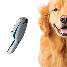 Fast Grooming Pet Ionic Brush - Grooming Comb Natural Deodorizer and Cleaner - Cleans with Ions - Natural and Effective - Works on Dogs Cats Horses