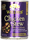 Wellness Dog Food Stew Peas and Carrot Can - Chicken - 12.5 oz can