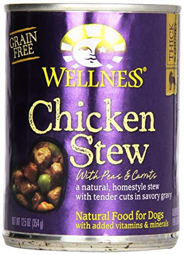 Wellness Dog Food Stew Peas and Carrot Can, Chicken, 12.5 oz can