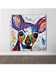 Print Modern Abstract Animal Canvas Art Chihuahua Dog Pop Art Wall Pictures For Living Room Kids Home Decor Painting