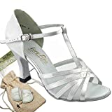Bundle - 5 items:Very Fine Women's Ballroom Salsa Tango Dance Shoe 16612 Protectors Pouch Sachet Bag, White Satin & White Mesh 8.5 M US Heel 3 Inch