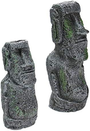 Majome Brillants p/âques Romaine Statue de Poisson d/écoration du R/éservoir de Meubles de r/ésine Artisanale Aquarium aquascaping Small