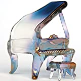 Piano Baby Grand Figurine of Hand Blown Glass
