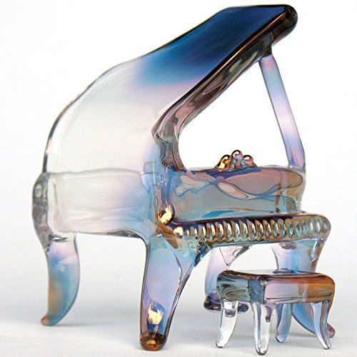 Piano Baby Grand Figurine of Hand Blown Glass by Prochaska Gallery