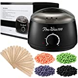 Wax Warmer, ESARORA Hair Removal Waxing Kit Electric Hot Wax Warmer With 4 Different Flavors Hard Wax Beans Wax Applicator Sticks 20 Pieces Perfect for Home Waxing Spa for Face Arm Armpits Legs Bikini