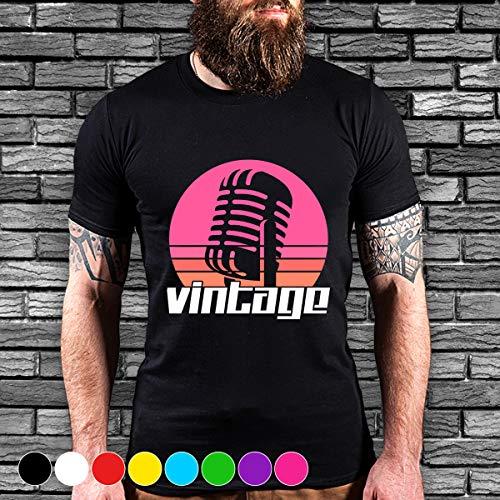 - Singing music microphone vintage singing karaoke concert vibtage T Shirt Long Sleeve Sweatshirt Hoodie Youth