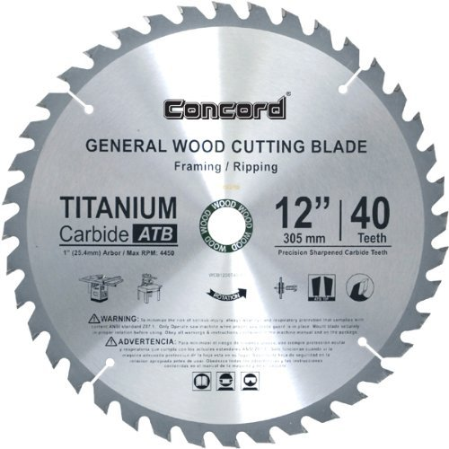 Concord Blades WCB1200T040HP 12-Inch 40  - General Purpose Table Saw Blade Shopping Results