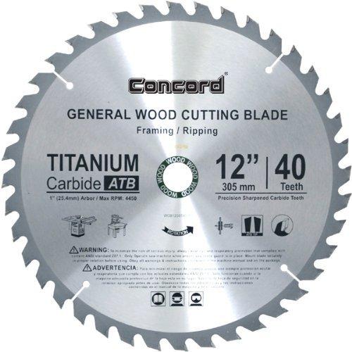 12 in carbide blade - 8