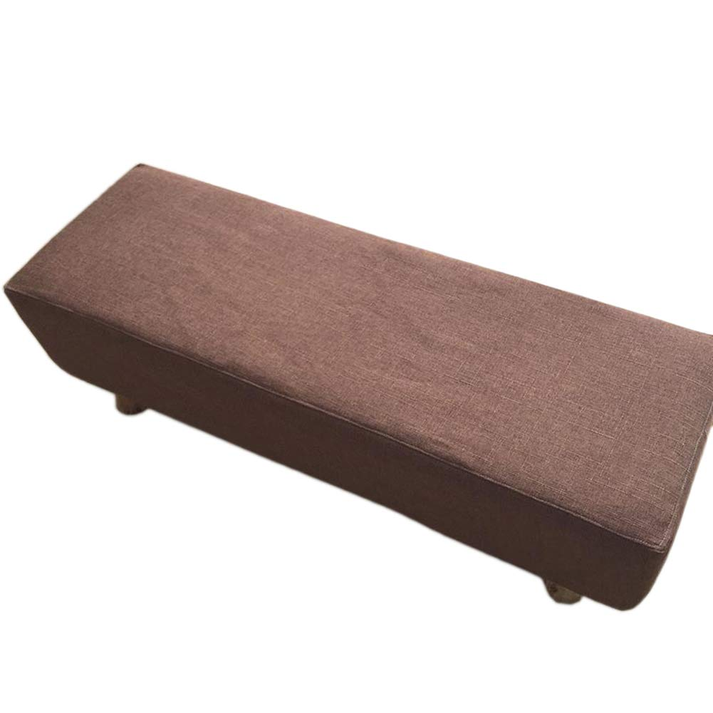 LJNGG 51.18''X15.75'' Dining Room Bench Cover Protector Furniture Piano Bench Cover Slipcover Removable Washable for Home Restaurant Shoe Shop Party Kid Pet Elderly 51.18''X15.75''(Coffee)
