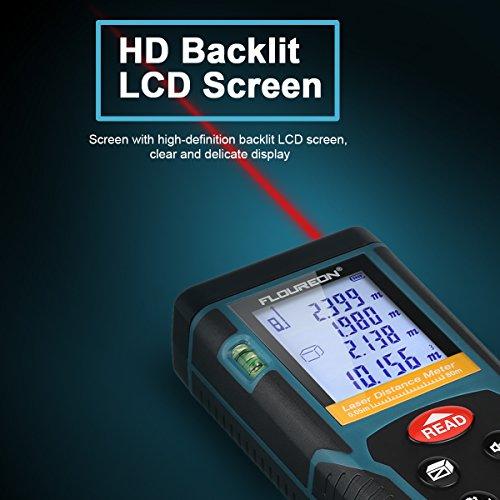FLOUREON Laser Distance Meter 100m//328ft Digital Laser Measure Handheld Laser