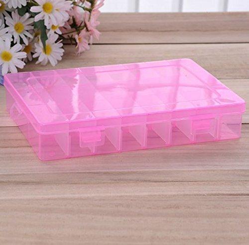 1PCS Portable Plastic Case Organizer Beads Jewelry Storage Box Container Hot Sale