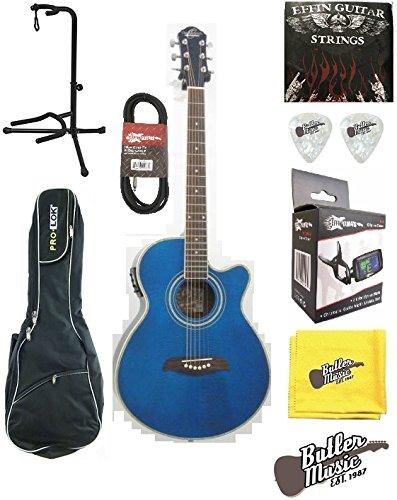 Oscar Schmidt og10ceftbl Tran azul llama a/E Guitarra w/bolsa de concierto y más: Amazon.es: Instrumentos musicales