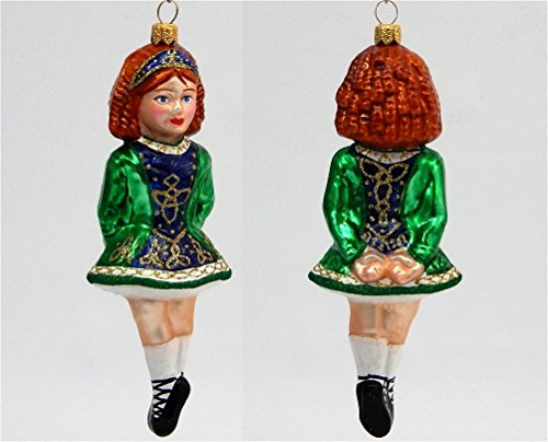 Irish Step Dancer - Polish Glass Christmas Tree Ornament