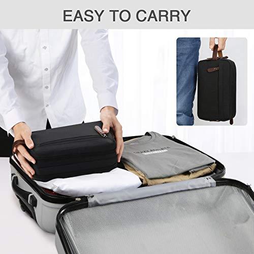 Men's Travel Toiletry Organizer Bag Water-resistant Shaving Dopp Kit Bathroom Bag (Black Water-resistant)