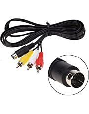 Childhood 1.8m Audio Video AV Wire Cable 9Pin to RCA Connection Cord for Sega Genesis 2 3