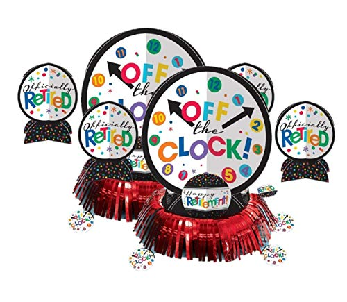 Amscan Fun-Filled Retirement Party Off the Clock! Table Decorating Kit, Multi Color, 13.8 x 11.8 (Two-Pack)]()