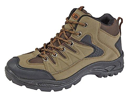 Dek Ontario mid-height Trek y Trail botas. sintética nobuck/palas de textil. Suela de TPR marrón