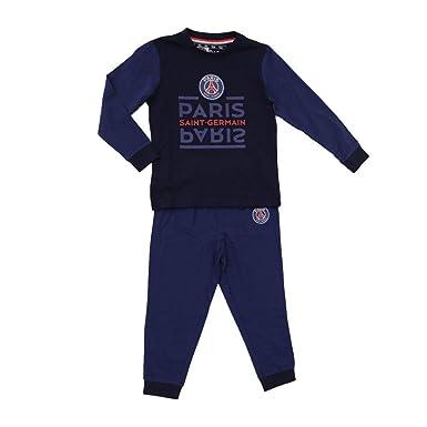 05267d2e38d5f4 Pyjama PSG - Licence Officielle - Bleu. Taille EU - 6 Ans: Amazon.fr ...