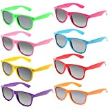 Wholesale Unisex 80'S Retro Bulk Promotional Neon Sunglasses for Party Favors
