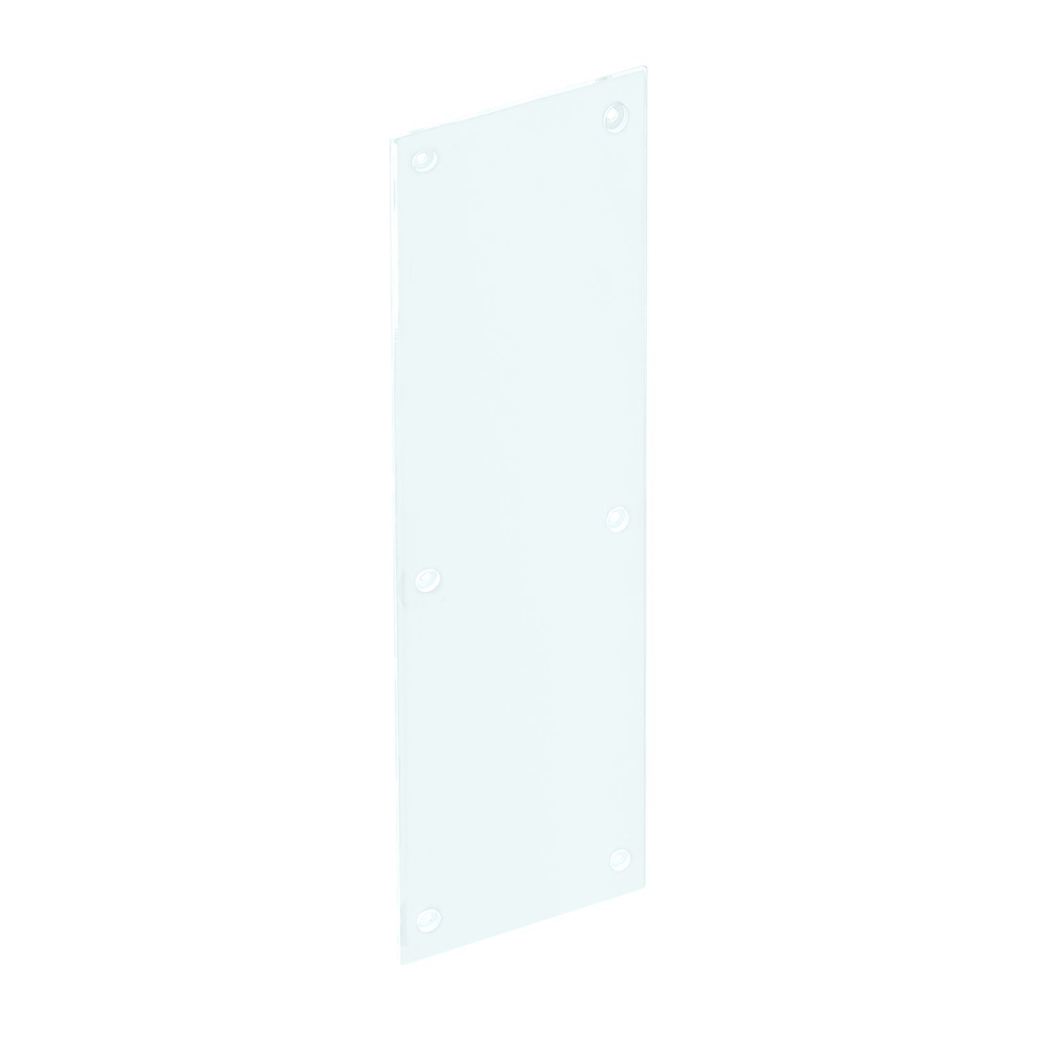 Prime-Line Products J 4923 Push Plate with Acrylic and Clear/Transparent, Smooth Finish, 3/16'' x 4'' x 16''