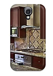Awesome Case Cover/galaxy S4 Defender Case Cover(kitchen With Cherry Cabinets And Granite Backsplash And Countertops)