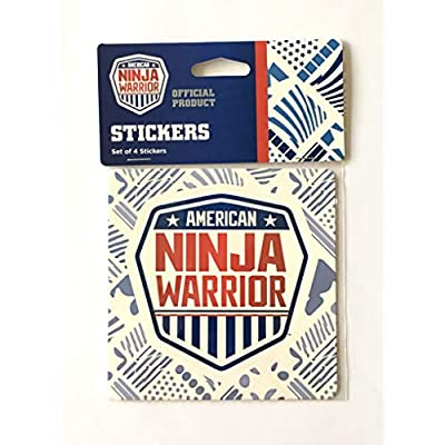 American Ninja Warrior Stickers (Set of 4) - 4 inches (H) x .01 Millimeter (W) x 4 inches (L): Kitchen & Dining