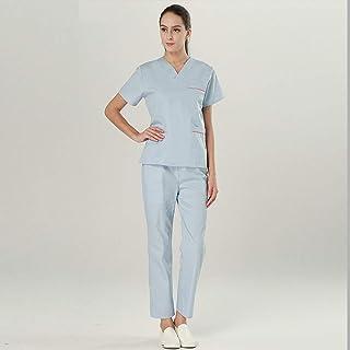 OPPP Abbigliamento medico Infermiera Ms. Uniforme Set Medico Scrub Set Lab Coat Coat Scrub Dental Clinic Hospital Manica Corta da Lavoro