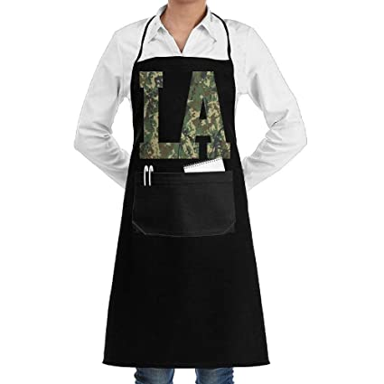 Amazon Com Luckyam Camouflage Camo Los Angeles Aprons Kitchen Chef