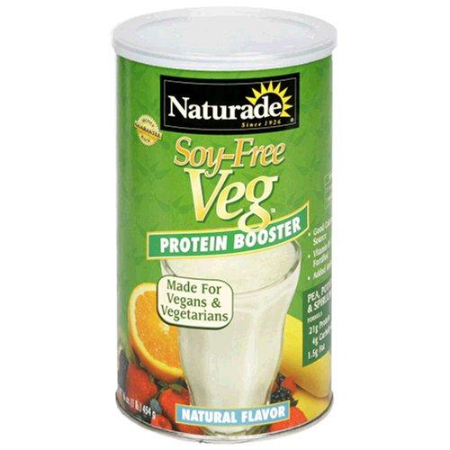 Naturade protéines Veg Booster, sans soja, arôme naturel, 16 onces (1 lb) 454 g (Pack de 2)