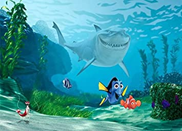 Amazon finding nemo poster photo wallpaper nemo dorie and finding nemo poster photo wallpaper nemo dorie and bruce 63 x 45 inches thecheapjerseys Gallery