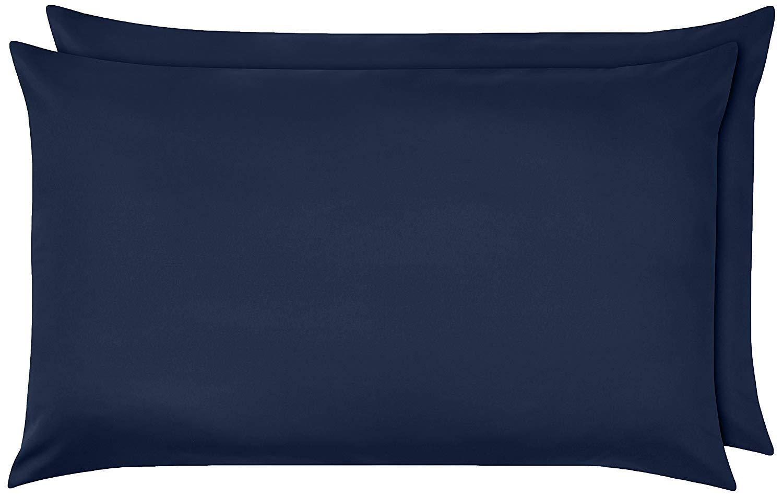 Azul Marino Lacey Home D/écor Cuenta de 600 Hilos Funda de Almohada 100/% algod/ón 50 x 80 cm