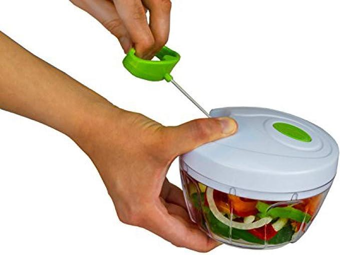 Picadora manual de alimentos, picadora de vegetales compacta y ...