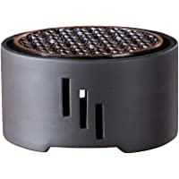 Hemoton Ceramic Tea Warmer Cooking Loose Tea Leaf Rack Teapot Heating Device Household Tea Milk Stove Cooker with Trivet Mat for Home Tea House (Without Candle)