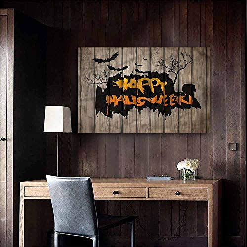 Gabriesl Wall Stickers Halloween Quote Bats Art Living Room Wall Size : W28 x H20