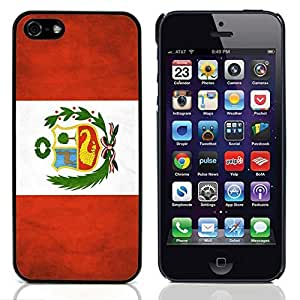 Graphic4You Vintage Peruvian Flag of Peru Design Hard Case Cover for Apple iPhone 5 & 5S