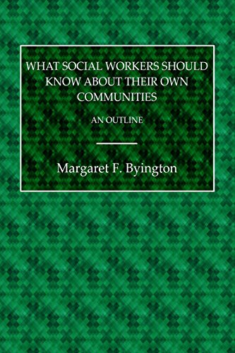 What Social Workers Should Know About Their Own Communities: An Outline