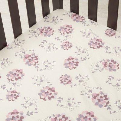 Kidsline Top Sheet - Fleur Crib Fitted Sheet