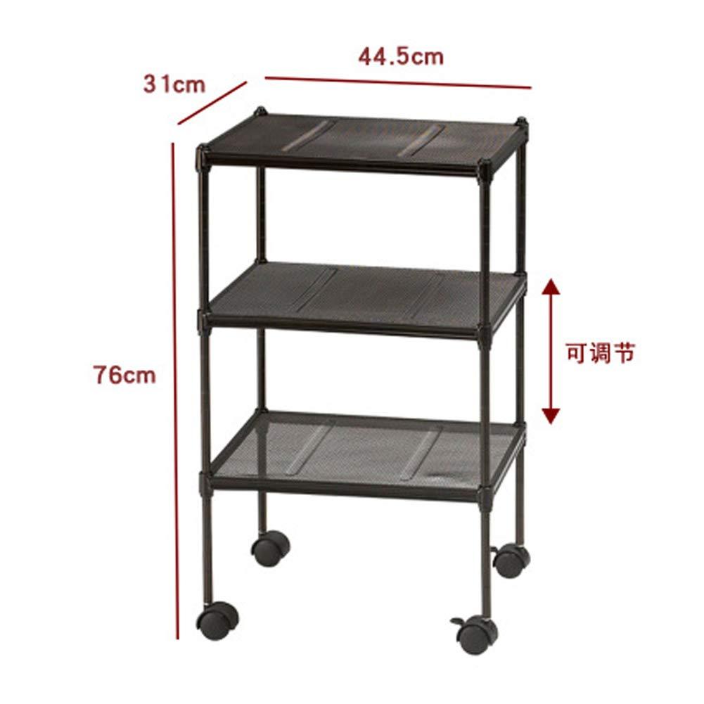 WWWT Multi-Layer Ultra-Mini Home Convenience Organizer, Simple Kitchen Shelf, Mobile Storage Rack, Grid cart-S