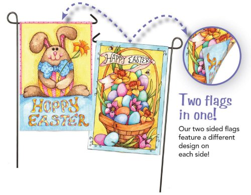 Evergreen Flag & Garden Happy Easter Bunny 2-Sided Vertical